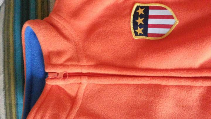 爸妈亲(KIDS MAM&DAD)童装外套儿童上衣男女童长袖摇粒绒开衫60059桔色130 晒单图
