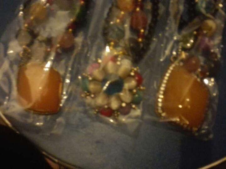 美丽公主 项链复古百搭装饰项链女长款配饰毛衣链挂件吊坠女饰品 10#小花水滴彩贝 晒单图