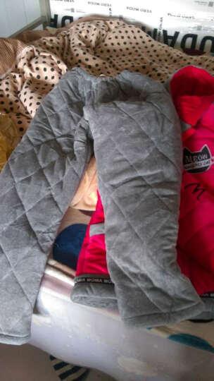 狄芬睡衣女冬季珊瑚绒三层夹棉袄加厚款加绒睡袍中年妈妈法兰绒家居服 3761红 色 XL 晒单图