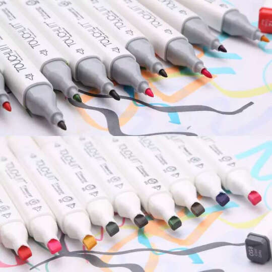 Touch liit6代六代双头油性酒精马克笔涂鸦漫画手绘设计马克笔 室内60色笔袋装 晒单图