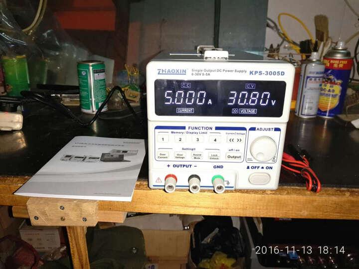 直流稳压电源 30V5A 兆信直流电源 10A 60V5A笔记本手机维修电源 可编程数控电源 KPS-3005D 30V5A (不带接口) 晒单图