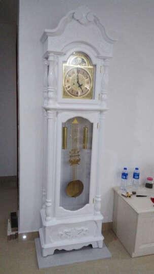 汉时(Hense)德国赫姆勒机芯落地钟欧式实木座钟客厅立钟经典大气复古机械钟表HG2188 HG2188德国14天(白色) 晒单图