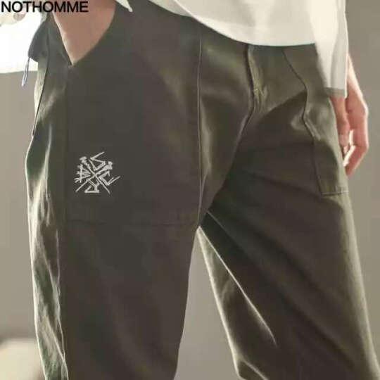 NOTHOMME潮牌休闲裤男士小脚修身 2017新款工装束脚裤 深蓝色 XL 32-33 偏小一码 建议选大一码 晒单图