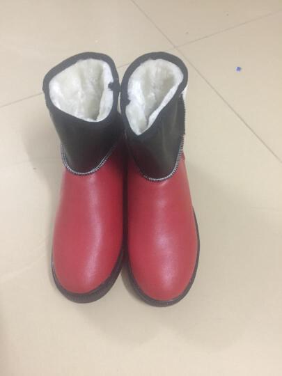 艾朵乐新款韩版冬季休闲平底雪地靴保暖加厚防水女靴 黄色 38 晒单图