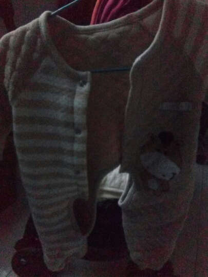 馨颂 婴儿彩棉保暖连体衣新生儿保暖彩棉内衣哈衣爬服 D045C 天然绿北极熊 80/48 晒单图