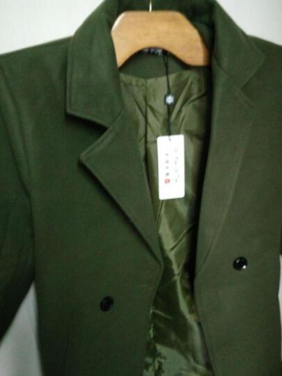 积极自由 男神风衣秋冬季加棉加厚中长款风衣男韩版长款毛呢大衣学生情侣装加绒外套 黑色--不加棉 (单件) L 晒单图