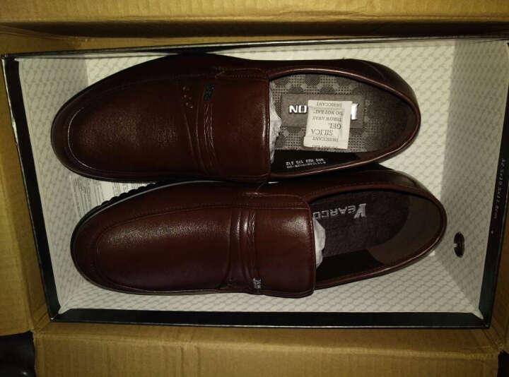 意尔康皮鞋日常休闲男鞋牛皮柔软舒适套脚爸爸鞋软面舒适单鞋6141ZA97662W 黑色 42 晒单图