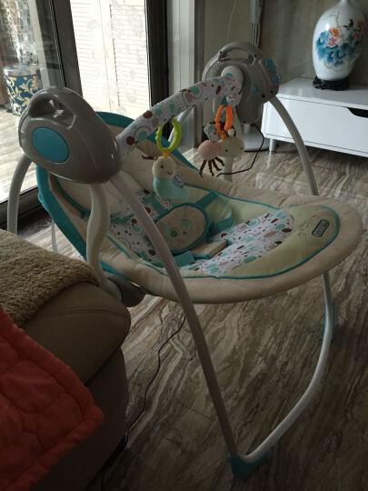 Joymaker 婴儿电动摇椅 摇篮 宝宝安抚椅 睡篮躺椅 电动安抚秋千 豪华型-蓝色 晒单图