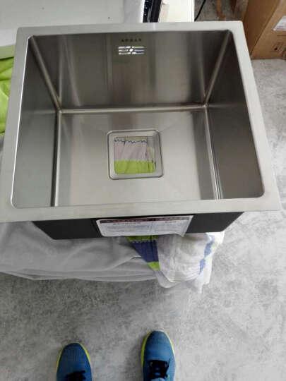 阿萨斯(ASRAS)2643B 不锈钢手工水槽 单槽套餐 厨房台下洗菜盆 搭配3053龙头 D(46*43cm) 晒单图