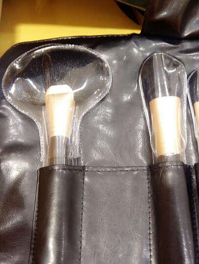 Cerro Qreen 化妆刷  动物毛18支化妆刷套装 部分包邮 玫瑰金+刷筒 小马毛 晒单图