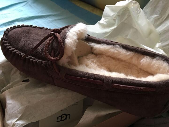 全球购 UGG 时尚保暖柔软舒适休闲鞋豆豆鞋 DLF卡其色 美码US 08 晒单图