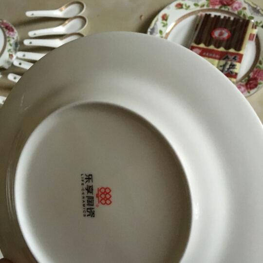 乐享 景德镇骨瓷餐具套装56头陶瓷碗盘碟华丽玫瑰 晒单图