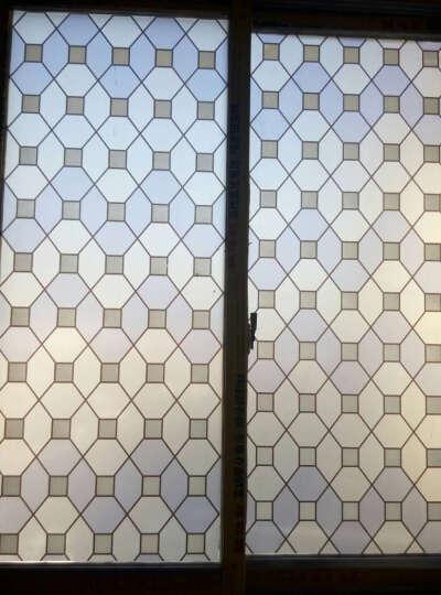 爵鑫90cm玻璃膜玻璃纸窗花纸窗贴玻璃贴膜透光白格黑格圆圈加厚贴膜 黑藤黄花90cm*3m价格 中 晒单图