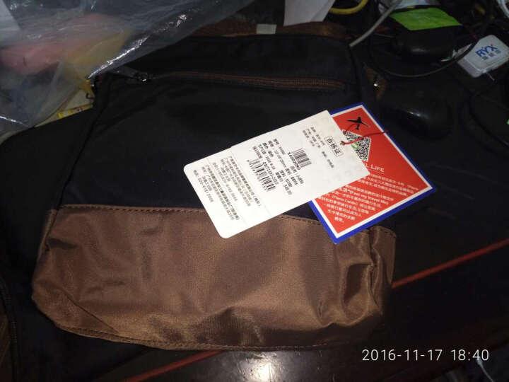皮尔卡丹男包 男包单肩包 男斜挎包 商务男士包包单肩包帆布包 休闲布包日韩包 咖啡色 大号X4003 晒单图