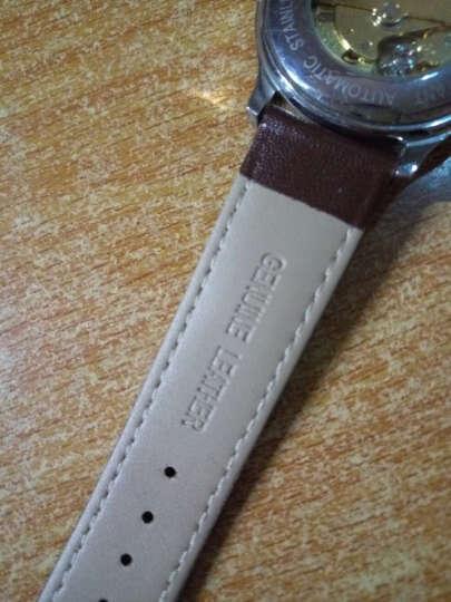 IIKTWOK手表皮带配件 男女士手表皮革表带 通用针扣手表表带 1022L--棕色-12MM 晒单图