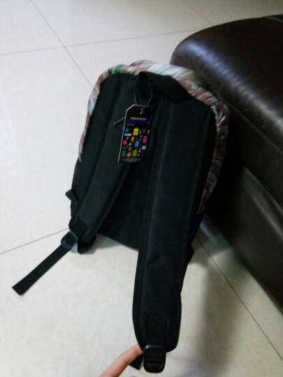 LIFETOTEM 初中生中学生书包女韩版学院风双肩包男背包小学生 油画褐色 晒单图