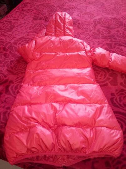 笛莎女童羽绒服冬装品牌童装女童甜美公主风外套舒适百搭中长款914 粉紫 150 晒单图
