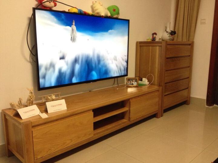 北欧简约现代全实木电视柜白橡木家具1