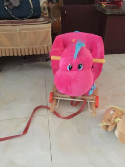 多款卡通音乐动物摇摇马 木马  玩具 1-3 浅棕米奇大号 新款实木带踏板 晒单图