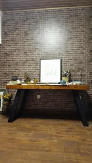 小铁匠 实木办公桌家用电脑桌书桌写字桌酒吧咖啡厅特色职场会议桌泡茶桌工作台可定制 长宽高160*80*75桌面厚8CM 晒单图