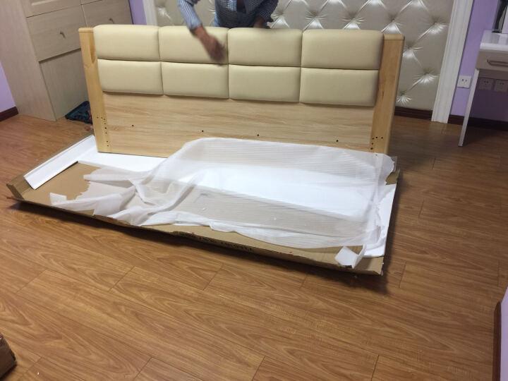 A家 床 框架实木床 1.5米 1.8米北欧双人床单人储物高箱床现代简约软包皮床主卧卧室家具 简易款+床垫+床头柜*2 框架床(1500mm*2000mm) 晒单图