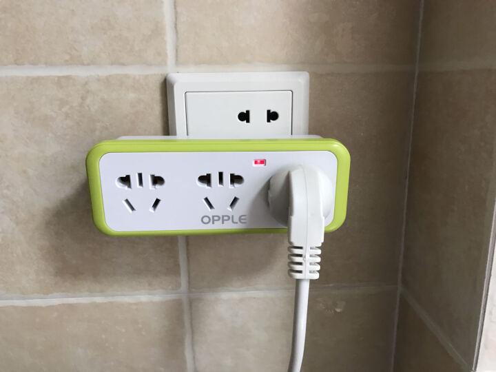 OPPLE 排插 转换插头电源插座转换器 一转多扩展 三个五孔 晒单图