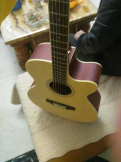 艾薇儿(Avril) 40寸41寸民谣吉他哑光黑色原木色初学者新手入门电箱免费刻字货到付款 40寸原木色 晒单图