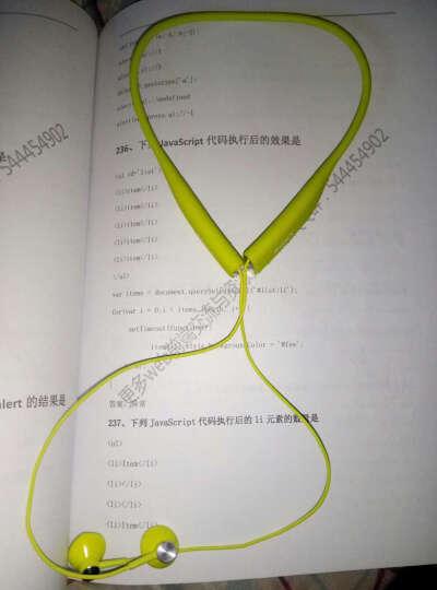 索尼 SBH70入耳式蓝牙运动耳机迷你立体声音乐耳机 柠檬绿 晒单图