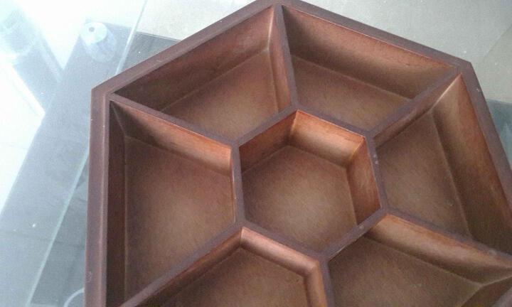 实木果盘中式水果盘分格带盖创意客厅木盘子瓜果零食盘干果盒木质 送朋友礼品 原木色实木小号钢化玻璃盖 晒单图
