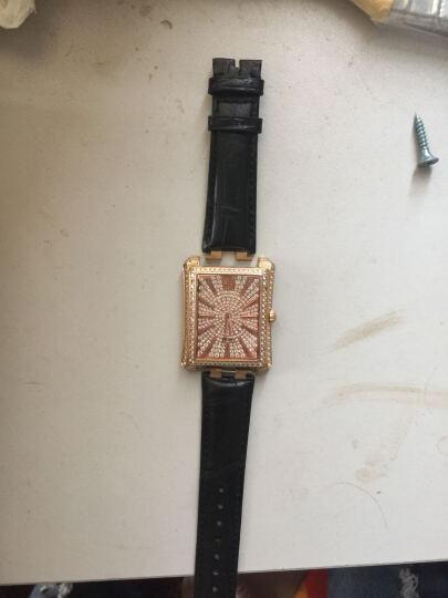 世辉(shihui)美洲鳄鱼皮手表带 适用于伯爵POLO系列凸口真皮手表带表链 男 21mm 黑色 接口宽度 21MM 晒单图