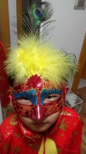 欢乐派对 万圣节圣诞节元旦儿童披风斗篷表演演出披风道具大人披风巫婆披风90CM和1米3可选 网纱巫婆帽子紫色烫金 晒单图