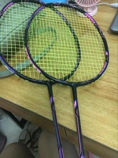 克洛斯威羽毛球拍T51全碳素羽拍个性一拍双色男女耐打双拍羽拍 2支装粉紫色 送双色大包1个+手胶2条+羽毛球6个 晒单图