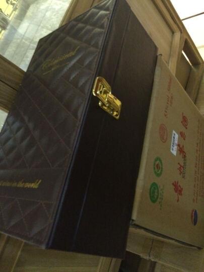 【全国3仓速达】宝鼎酒业国庆春节送礼红酒礼盒包装礼品盒 双支装皮盒送礼盒子葡萄酒【无酒水】 黑色平板皮盒有酒具 晒单图