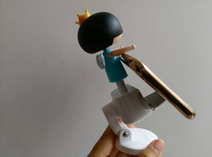 赛鲸 四月娃娃多功能手机支架吸盘式适用于车载/桌面 导航眼镜墨镜支架 太空蓝 晒单图