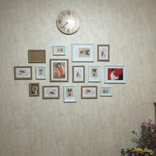 丽声(RHYTHM)儿童健康环保挂钟客厅卧室静音扫秒可爱创意童话时钟简约时尚挂表石英钟表 23cm粉色公主 CMG510BR13 晒单图