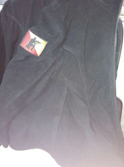 自由骑士户外秋冬抓绒衣女军装立领夹克外套战术迷彩棉风衣0722 黑色 XXL 晒单图