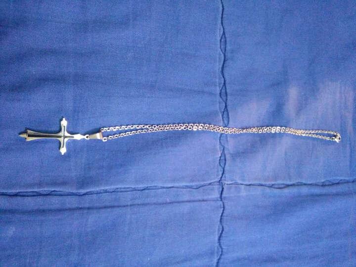 925银情侣项链一对 项链女士项链 男女款吊坠男士项链锁骨链 圣诞节礼物 足银3D战狼款/约1.7克 晒单图
