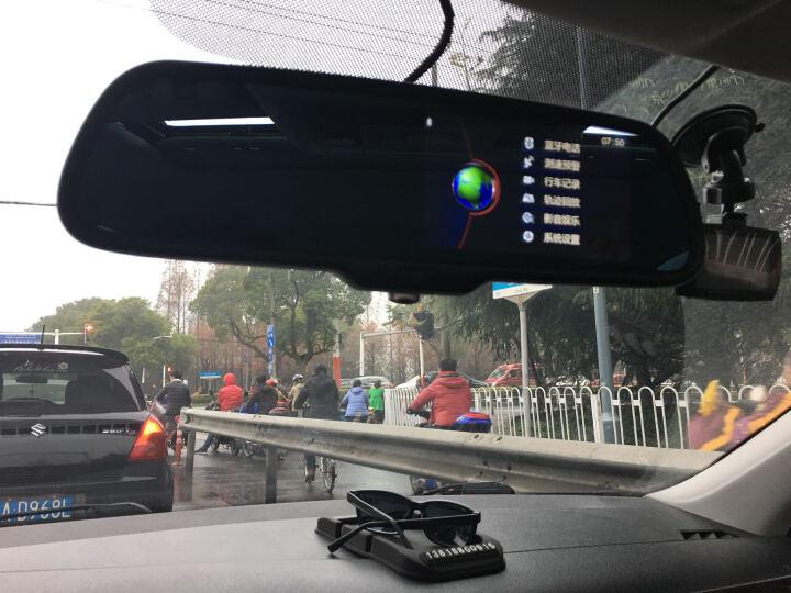 仙人指路X73行车记录仪前后双录智能后视镜GPS导航仪测速预警后视一体机 X73新品上市+4核+32G存储(前后双录版本) 晒单图