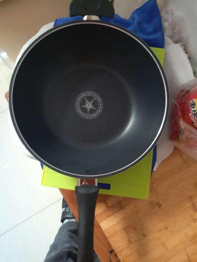 炒锅不粘锅无油烟32CM炒锅电磁炉通用 黑色 晒单图