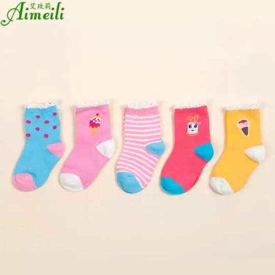 艾玫莉儿童袜子男童女童小孩1-12岁秋冬季中筒纯棉袜5双 帽子款 适合8-12岁 晒单图