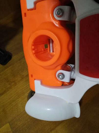 儿童蛙式滑板车四轮闪光摇摆车扭扭车双脚踏板音乐灯光滑行剪刀车 升级款可折叠 白色 晒单图