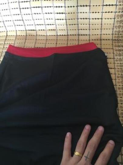 篮球裤男士运动短裤宽松大码五分裤中裤网孔透气健身跑步篮球服短裤速干 001裤子白色黑边 XL(170cm以下) 晒单图