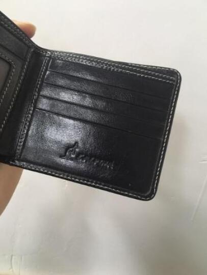 意大利袋鼠(L'ALPINA)钱包男头层牛皮男士卡包商务手拿包休闲 663052176黑色 晒单图