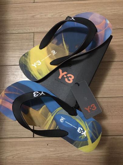 Y3 山本耀司 中性款黑色橡胶平底夹趾凉拖鞋 AQ5726 7/40.5码 晒单图