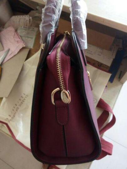 红客 新款包包女包简约商务单肩包定型手提包斜挎包欧美风女士大包潮女 红色 晒单图