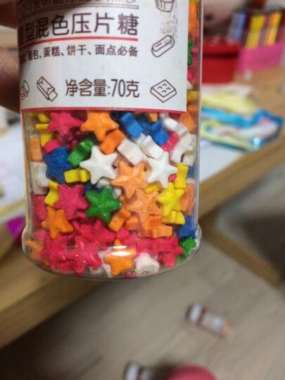 【巧厨烘焙_展艺彩珠糖】蛋糕装饰糖珠原料 面包奶油西点装饰彩糖 小号混色彩糖珠85g 桃红 白 黄 紫 晒单图