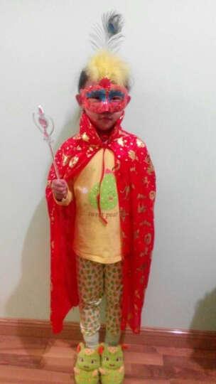欢乐派对 万圣节表演演出披风道具万圣节大人披风万圣节服装圣诞节巫婆披风90CM和1米3可选 网纱巫婆帽子紫色烫金 晒单图