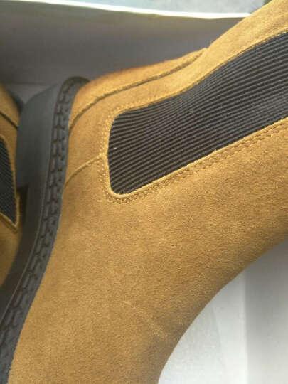 驰轩欧美风秋冬新款短靴女真皮平底短筒切尔西休闲加绒踝靴子单靴潮 驼色! 40需要订做 晒单图