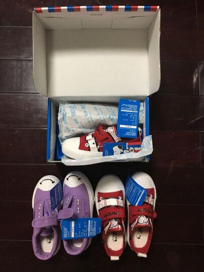 史努比 SNOOPY 时尚休闲鞋 潮流儿童帆布鞋 S6330JD350白色22码 晒单图