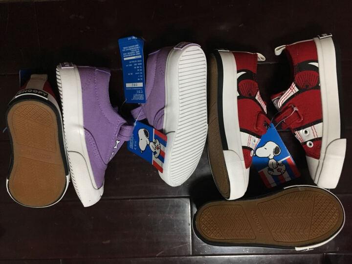 史努比 SNOOPY 儿童帆布鞋 男童板鞋休闲鞋 S6330JD342荧光亮橙22码 晒单图